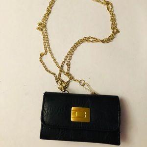Vintage mini black purse w/ chain